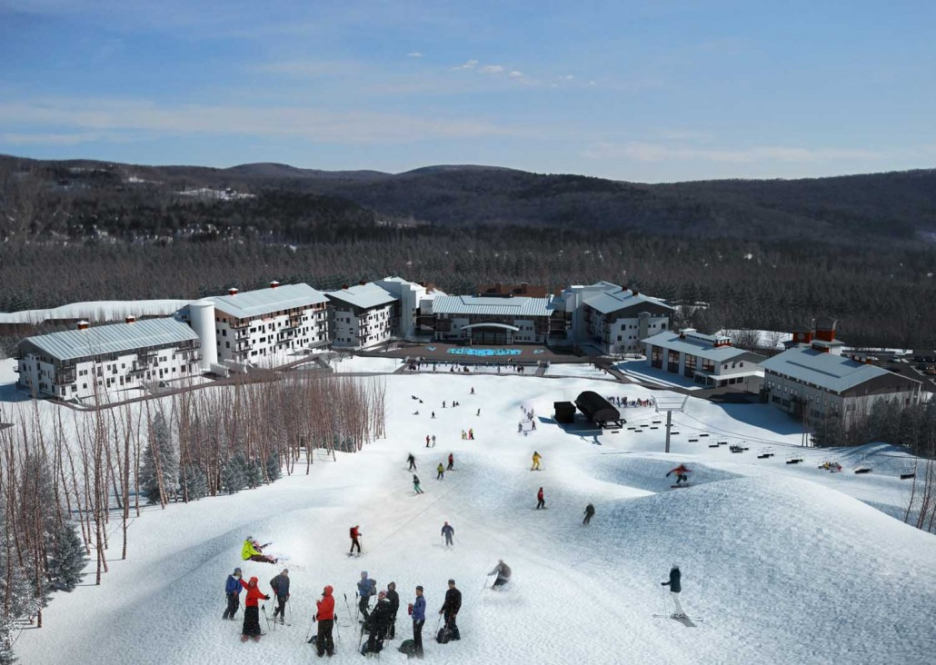 Full View of 110 unit lodge at Mount Snow Vermont