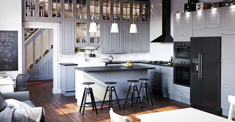 3D render of Kitchen provided from IKEA