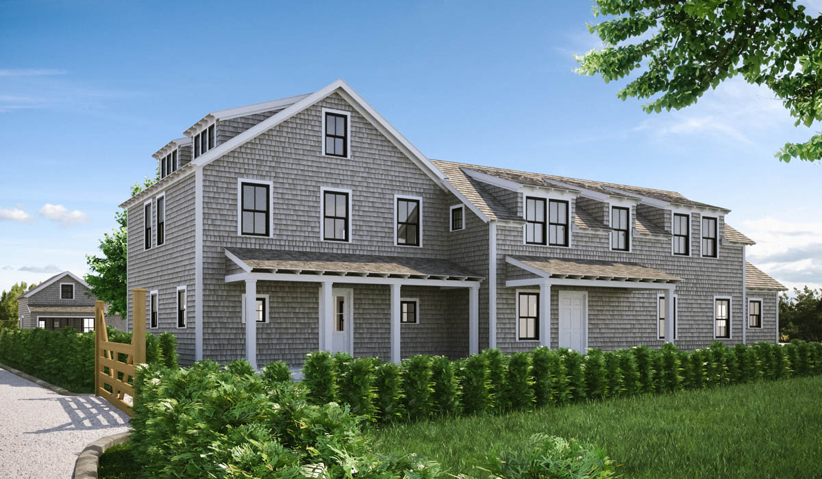 Cape Cod Home Exterior 3D Rendering