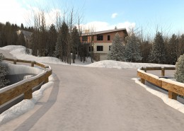 3D Rendering of Buildings, Furniture & Ski Resorts